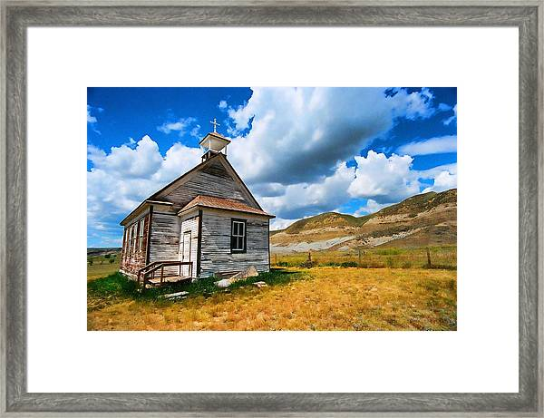 Pioneer Church 1 Framed Print