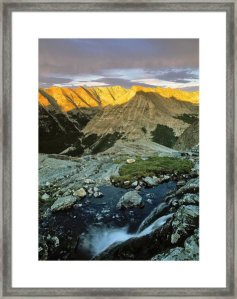 Pioneer Mountains Framed Print by Leland D Howard