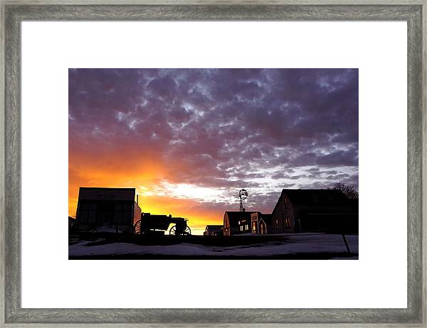 Pioneer Town Sunset Framed Print