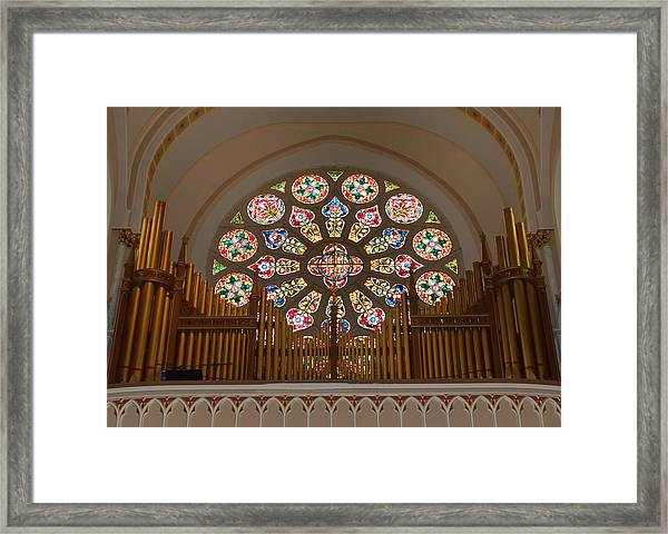 Pipe Organ - Church Framed Print