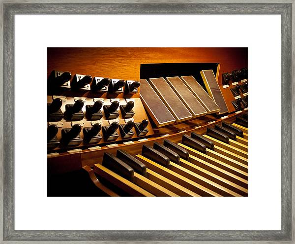 Pipe Organ Pedals Framed Print