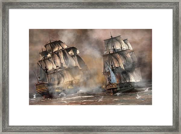 Pirate Battle Framed Print