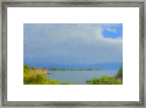 Pirate Cove Jamestown Ri Framed Print