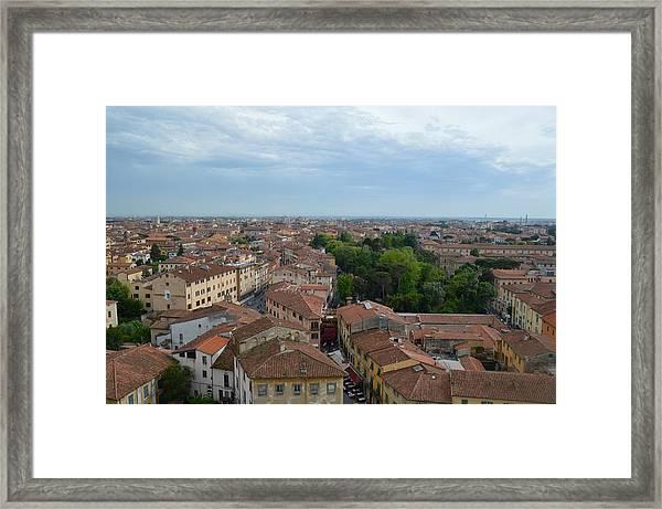 Pisa From Above Framed Print