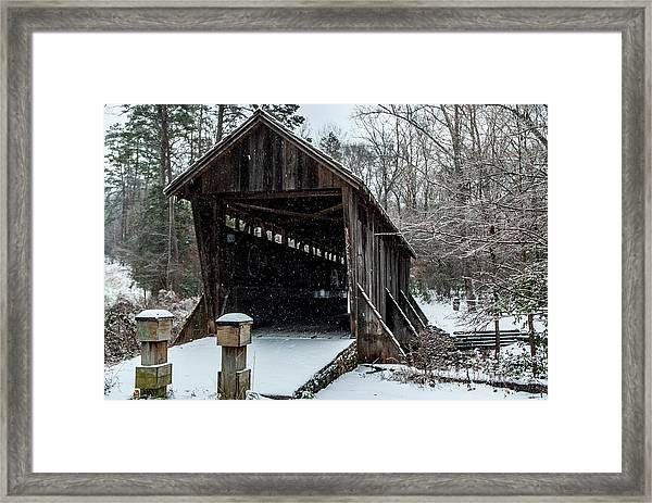 Pisgah Covered Bridge - Modern Framed Print