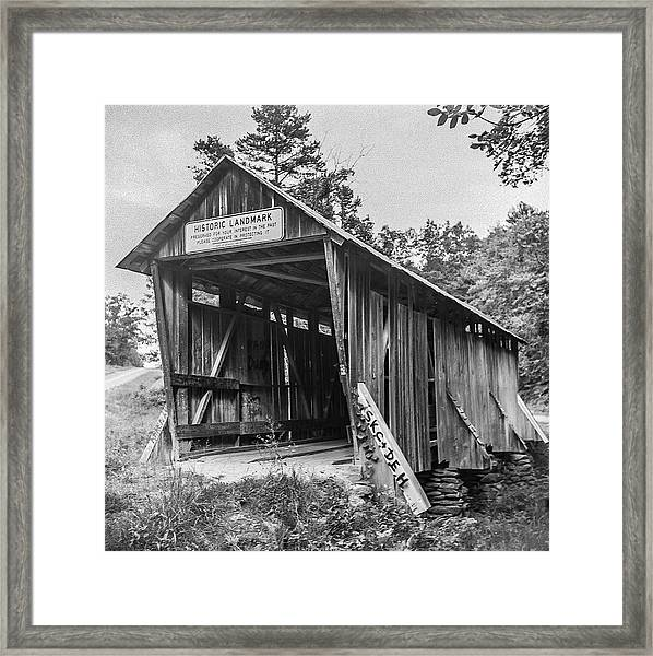 Pisgah Covered Bridge No. 1 Framed Print