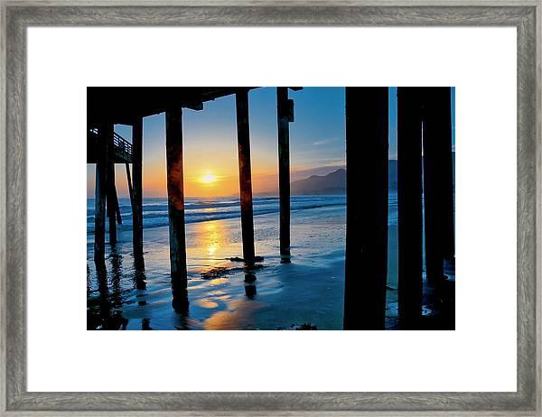 Pismo Beach Pier Sunset Framed Print