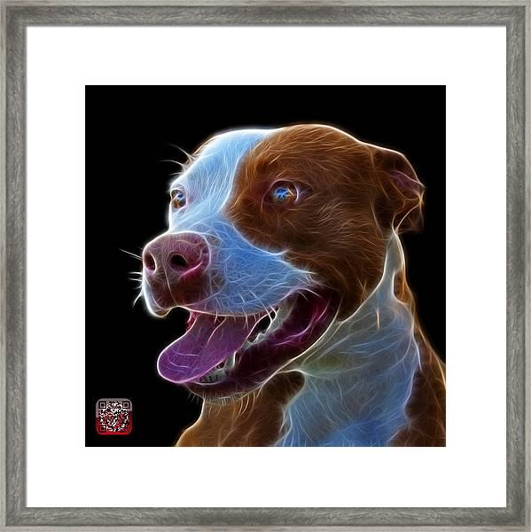 Pit Bull Fractal Pop Art - 7773 - F - Bb Framed Print