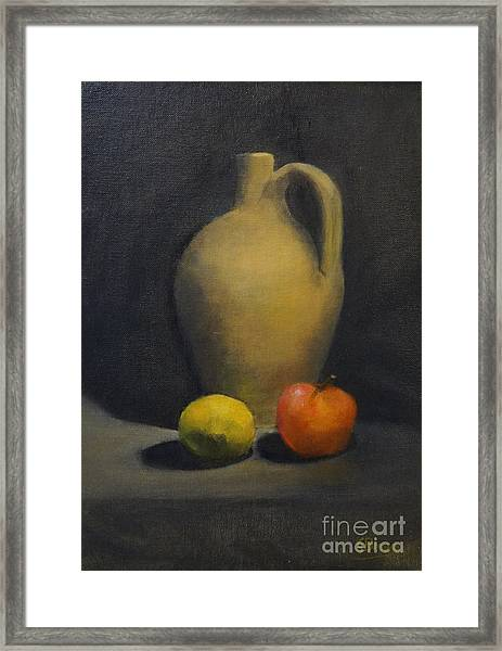 Framed Print featuring the painting Pitcher This by Genevieve Brown