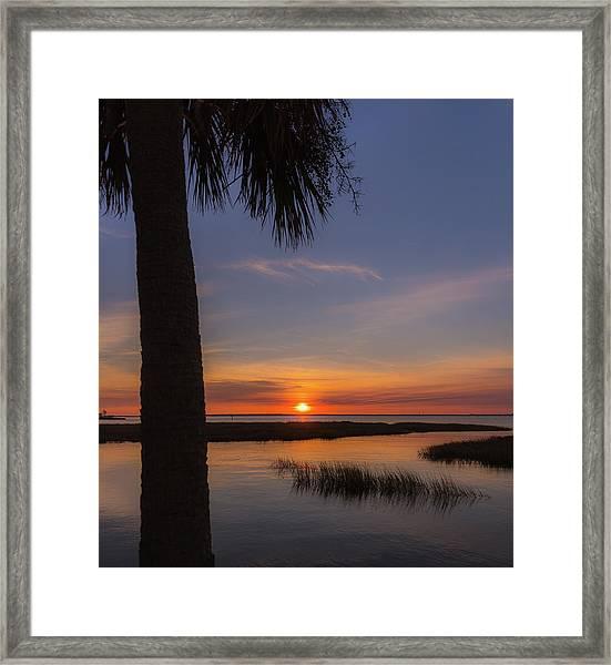 Pitt Street Bridge Palmetto Sunset Framed Print