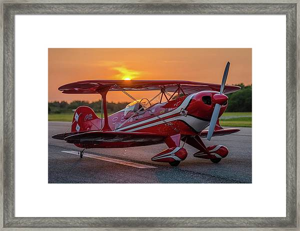 Pitts Sunset Framed Print