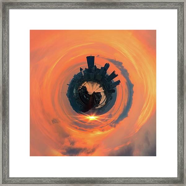 Pittsburgh Little Planet 5  Framed Print
