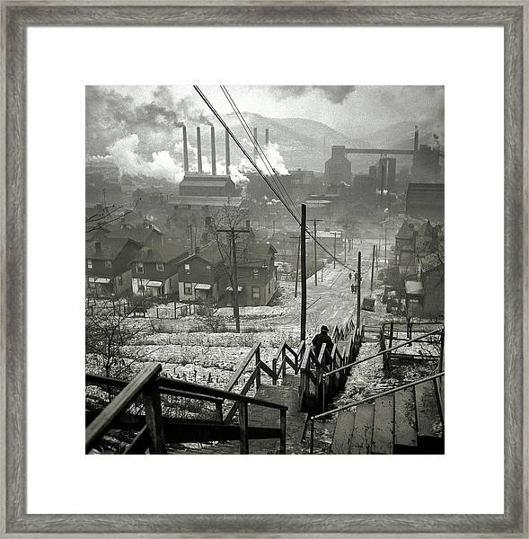 Pittsburgh Mill District  1940 Framed Print