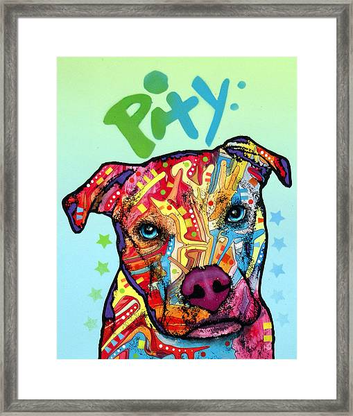 Pity Framed Print by Dean Russo Art
