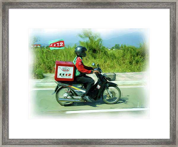 Pizza Delivery Framed Print
