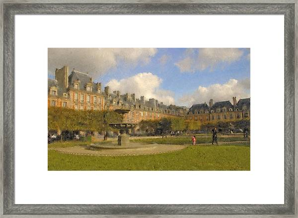 Place Des Vosges Framed Print