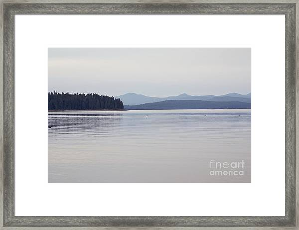Placid Mountain Lake Framed Print