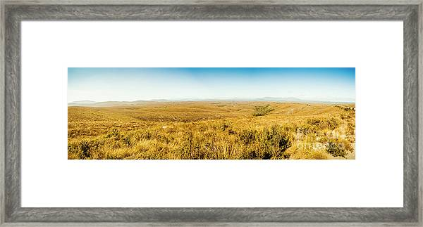 Plain Plains Framed Print
