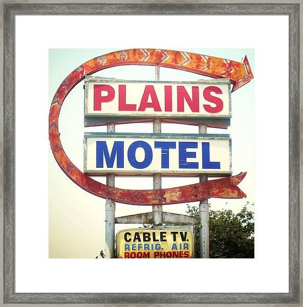 Plains Motel Framed Print