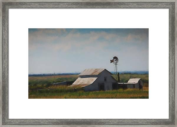 Plains Painted Barn Framed Print