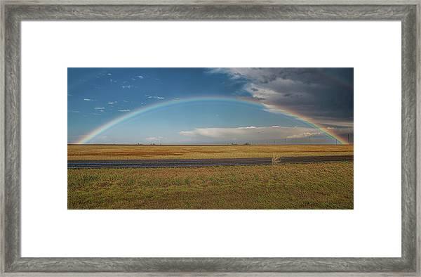 Plainview Rainbow Framed Print