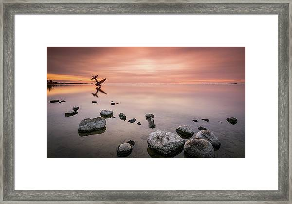 Plane And Colors Framed Print