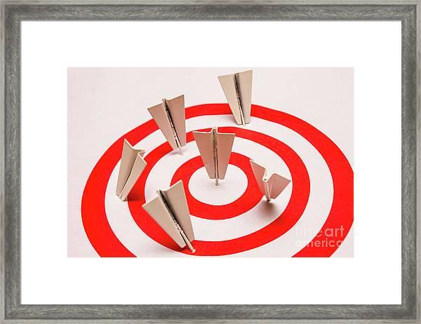 Plane Goal Framed Print