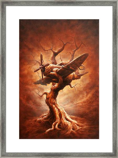Plane Old Tree Framed Print by Victor Whitmill
