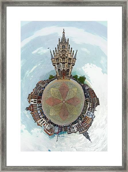 Planet Gouda Framed Print