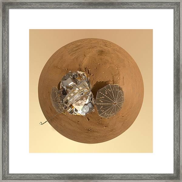 Planet Mars Via Phoenix Mars Lander Framed Print