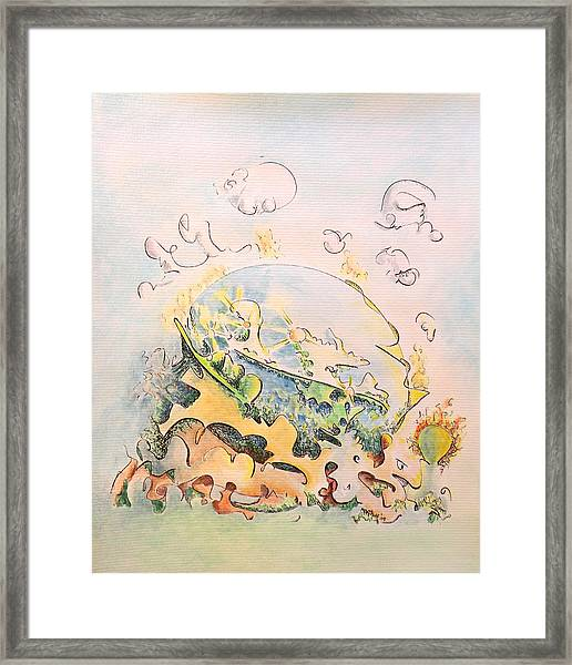 Planetary Chariot Framed Print