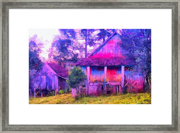 Plank Homes Framed Print