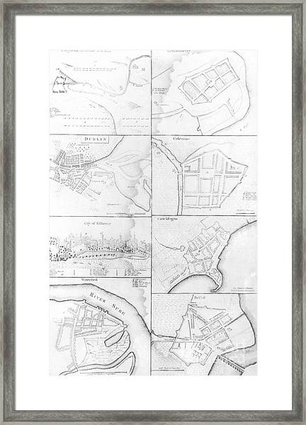 Plans Of The Principle Towers, Forts And Harbors In Ireland  Framed Print