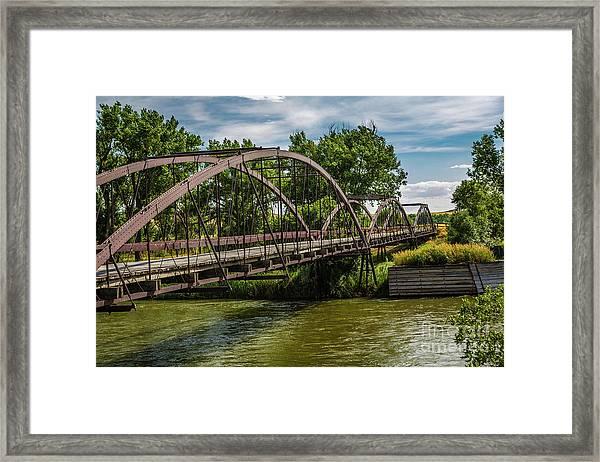 Platte River Bridge Framed Print
