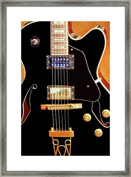 Play Them Blues Framed Print