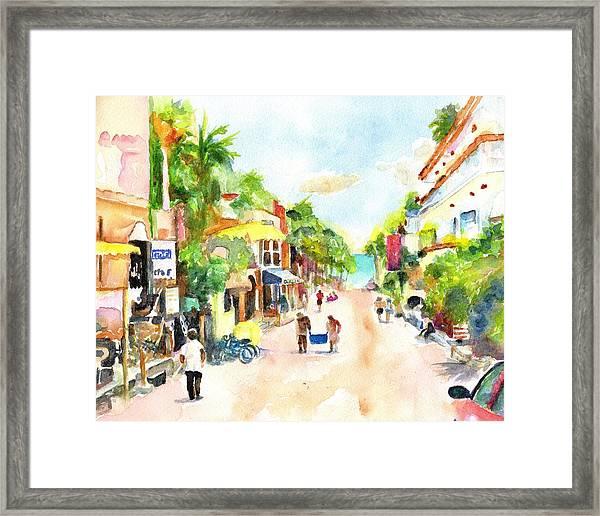 Playa Del Carmen Mexico Shops Framed Print