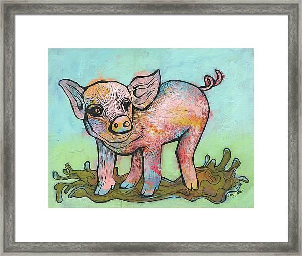 Playful Piglet Framed Print