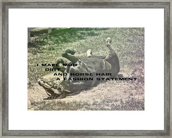 Playful Quote Framed Print