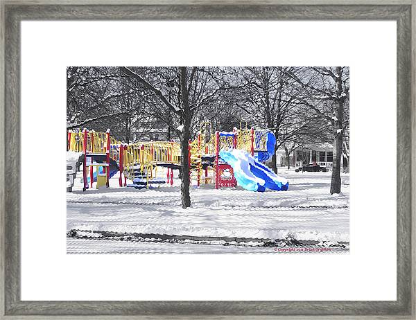 Framed Print featuring the photograph Playground 16d by Brian Gryphon