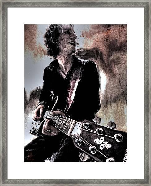 Playin' Grunge Framed Print