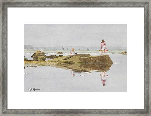 On Crab Rock Framed Print