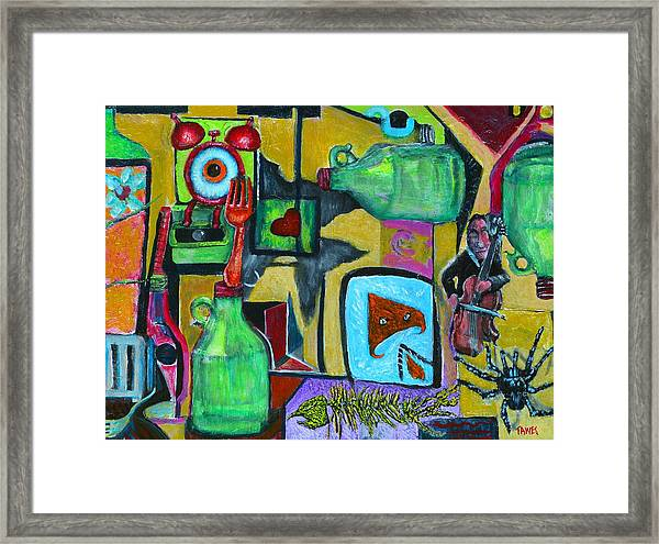 Playing Or Being Played Framed Print