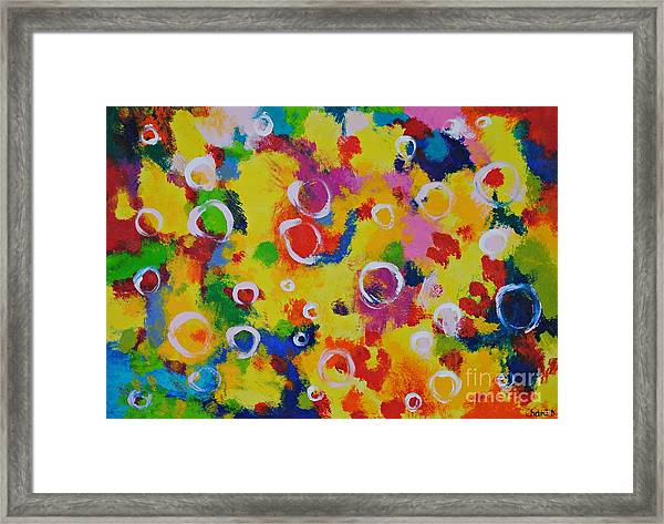 Playing With Soap Framed Print