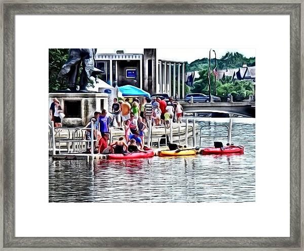 Playtime On The River Framed Print