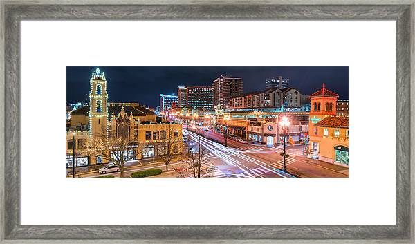 Plaza Lights  Framed Print