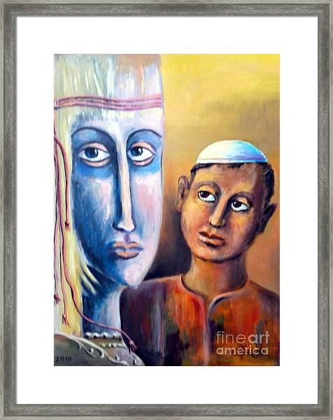 Please Framed Print by Ushangi Kumelashvili