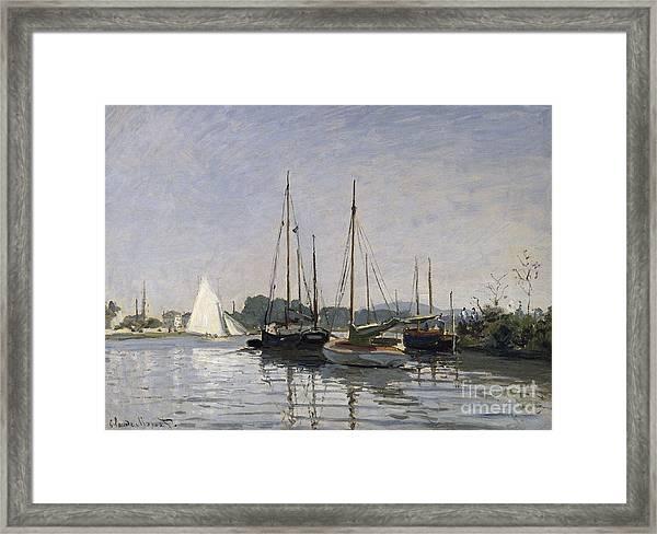 Pleasure Boats Argenteuil Framed Print