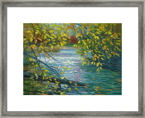 Plein Air - Chicopee State Park Framed Print