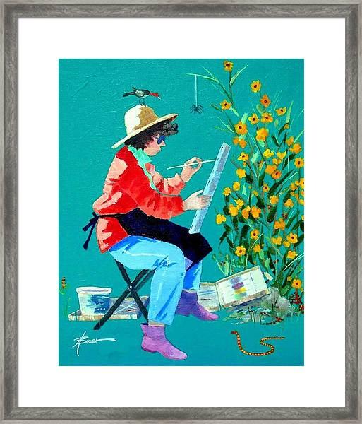 Plein Air Painter  Framed Print