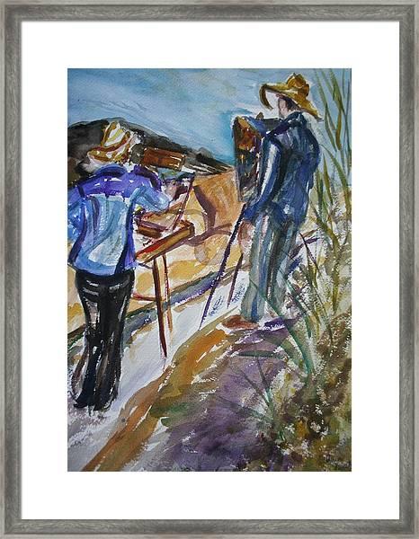 Plein Air Painters - Original Watercolor Framed Print